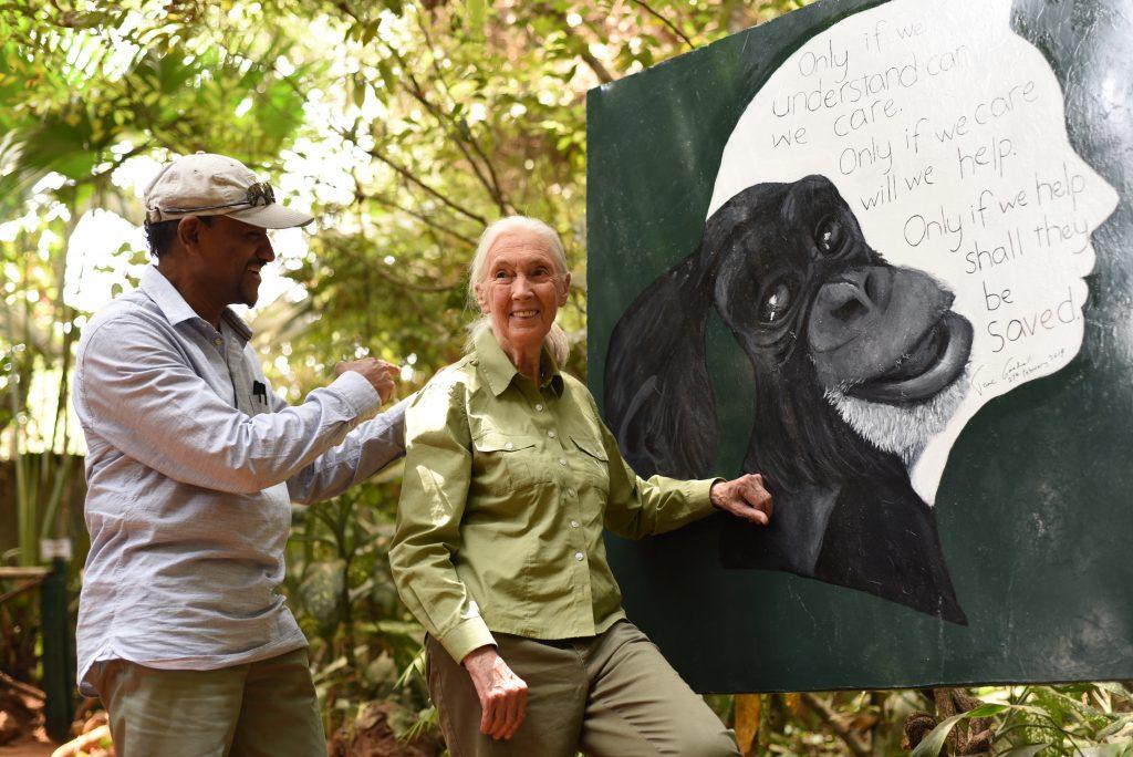 Jane Goodall at Tacugama
