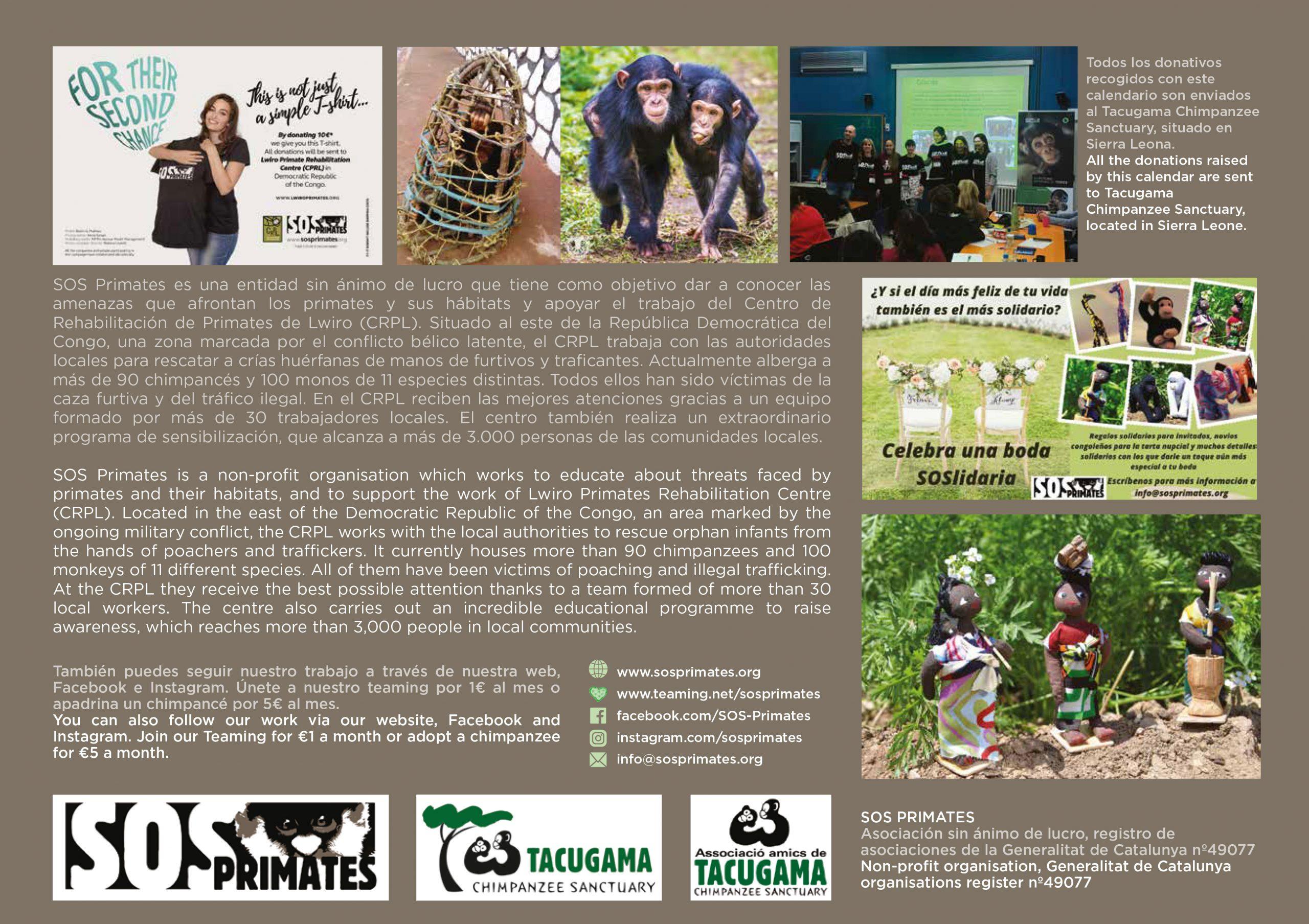 2021 Tacugama Calendar – Tacugama Chimpanzee Sanctuary